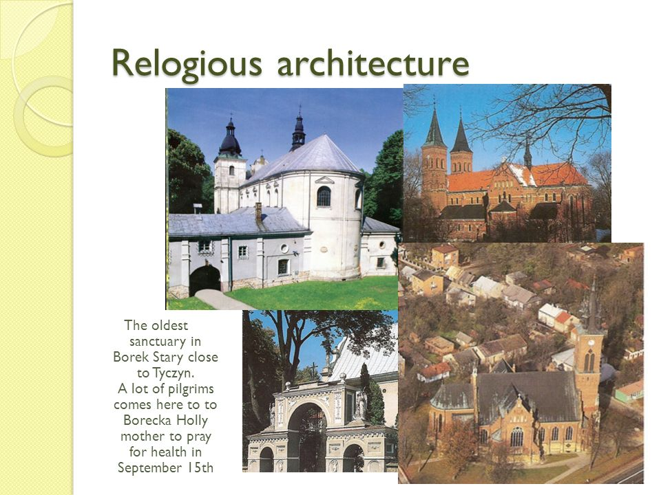 Relogious architecture The oldest sanctuary in Borek Stary close to Tyczyn.