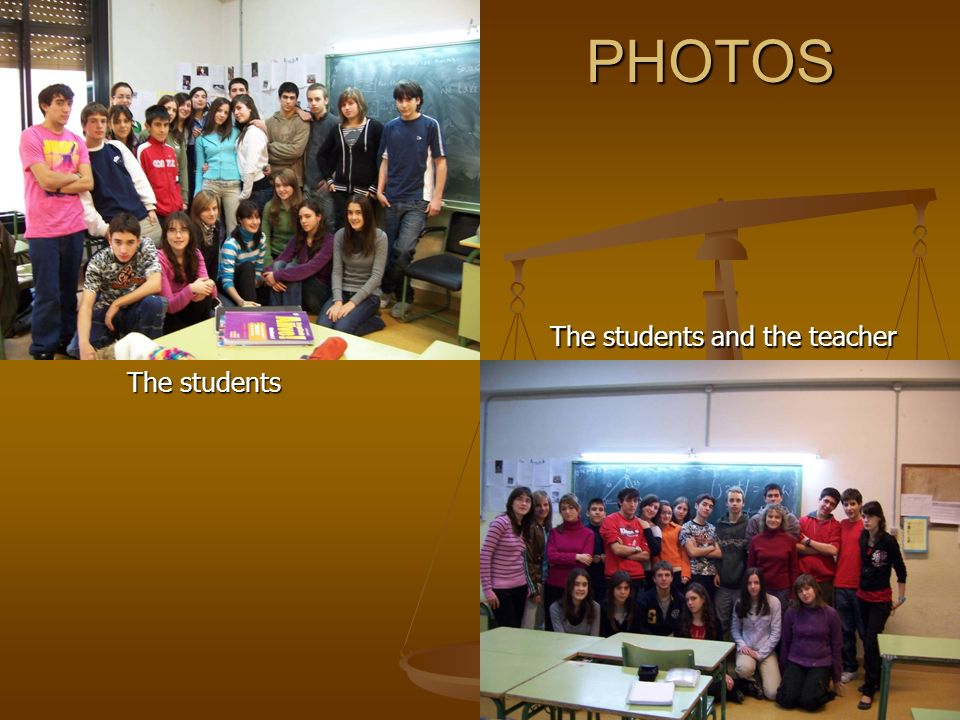 PHOTOS The students The students and the teacher