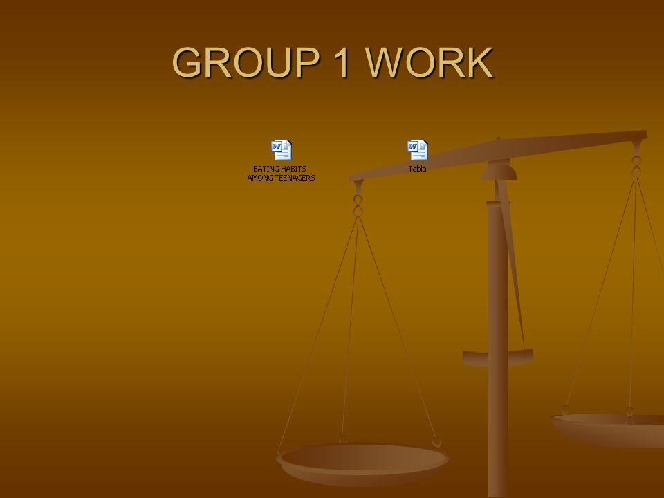 GROUP 2 WORK