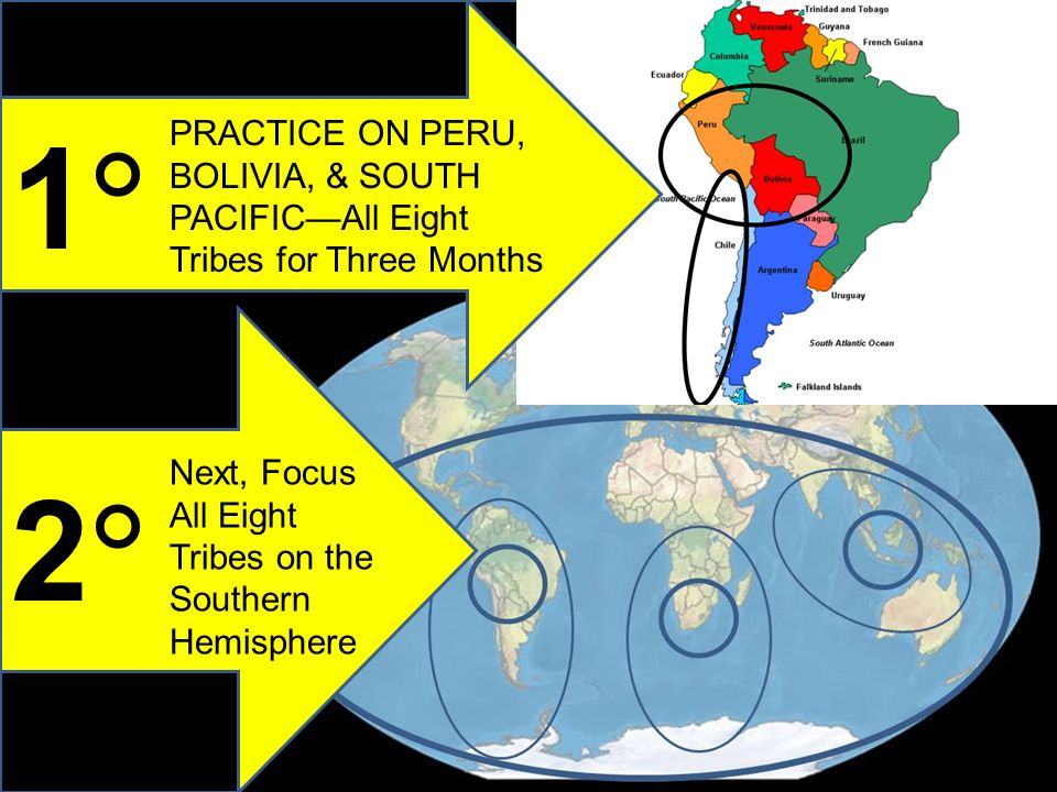 1 2 PRACTICE ON PERU, BOLIVIA, & SOUTH PACIFICAll Eight Tribes for Three Months Next, Focus All Eight Tribes on the Southern Hemisphere