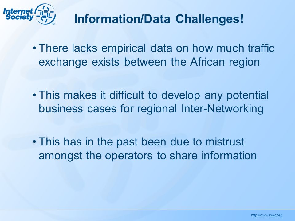 Information/Data Challenges.