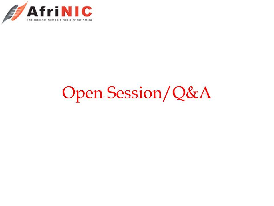 Open Session/Q&A