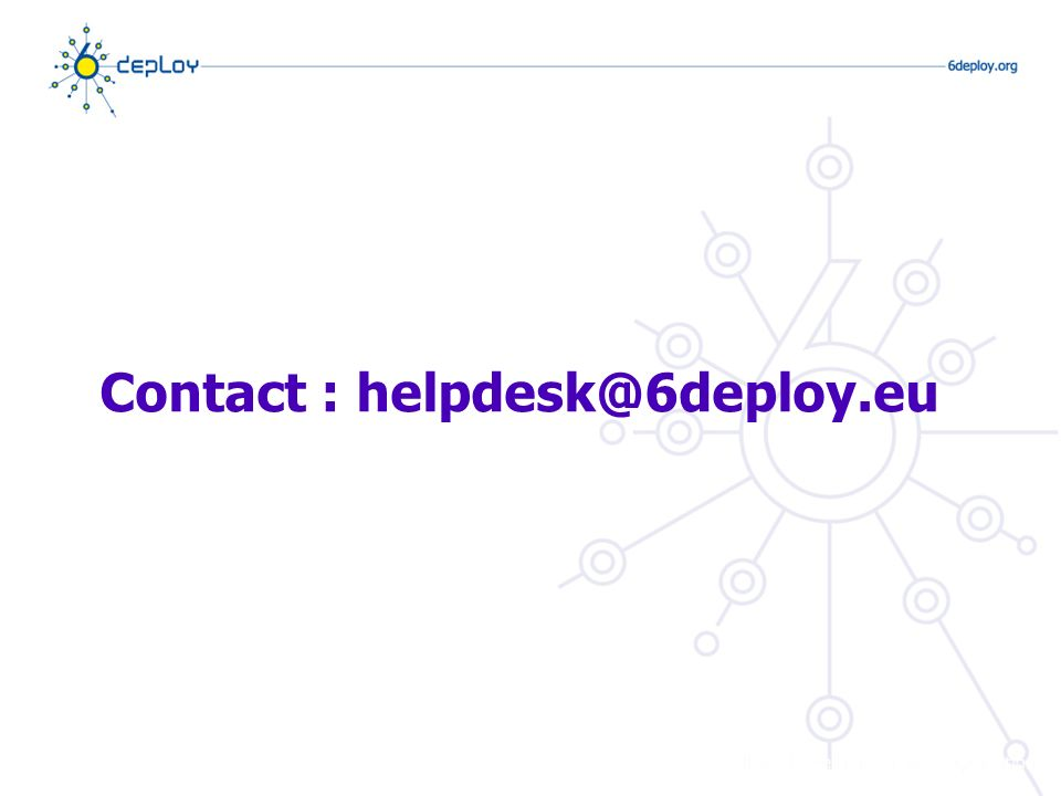 Contact : helpdesk@6deploy.eu