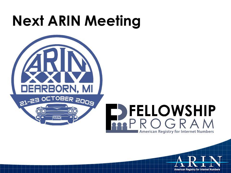 Next ARIN Meeting