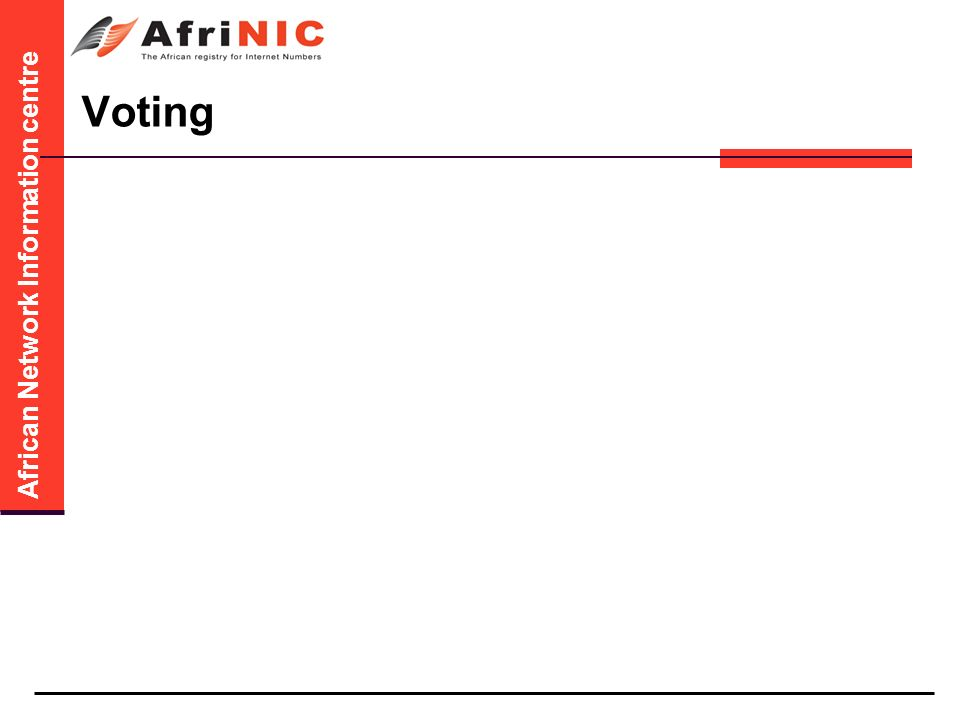 African Network Information centre Voting