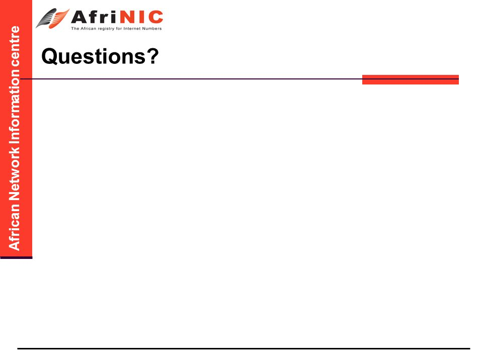 African Network Information centre Questions