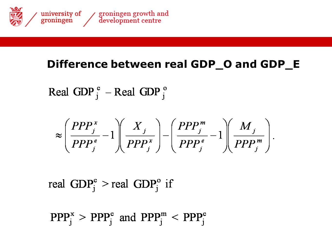 Difference between real GDP_O and GDP_E