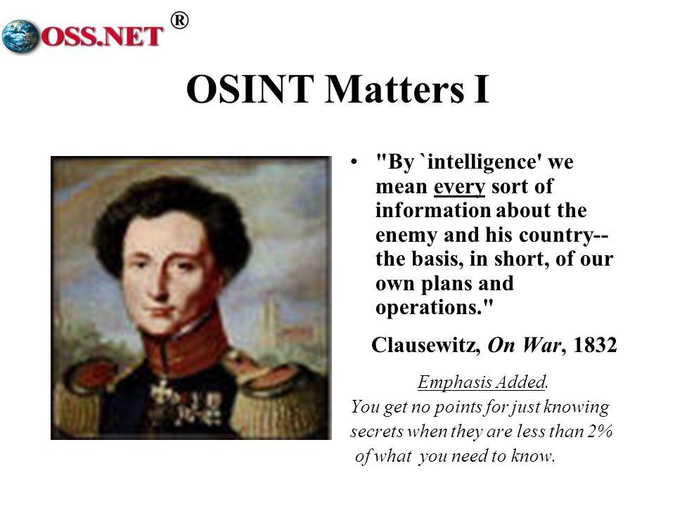 ® OSINT Matters I