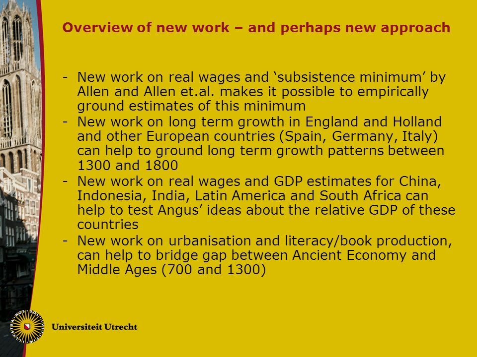 Overview of new work – and perhaps new approach -New work on real wages and subsistence minimum by Allen and Allen et.al.