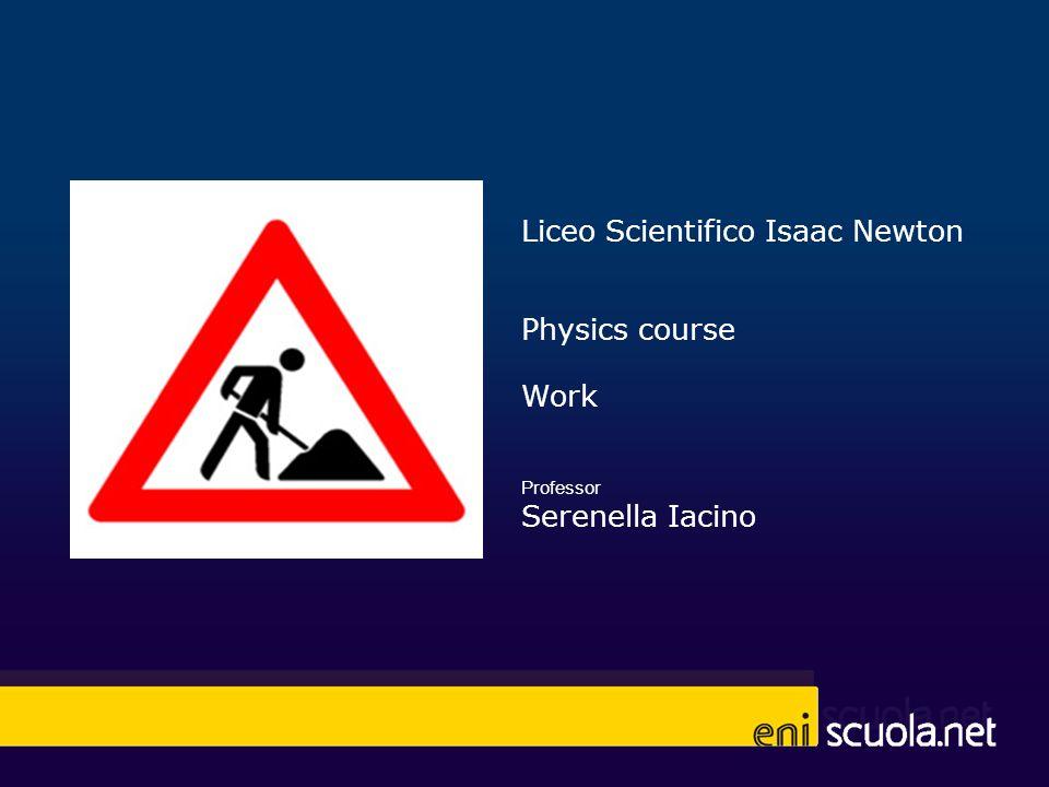 Liceo Scientifico Isaac Newton Physics course Work Professor Serenella Iacino