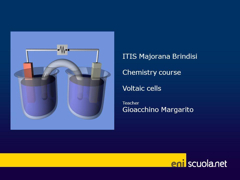 ITIS Majorana Brindisi Chemistry course Voltaic cells Teacher Gioacchino Margarito