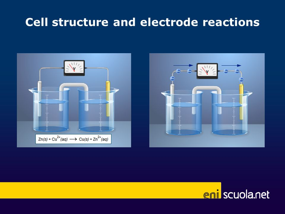 Cell structure and electrode reactions