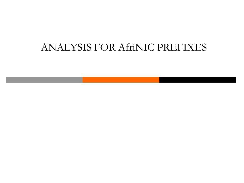 ANALYSIS FOR AfriNIC PREFIXES