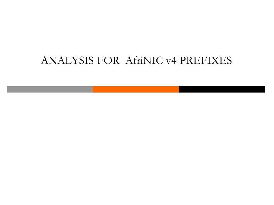 ANALYSIS FOR AfriNIC v4 PREFIXES