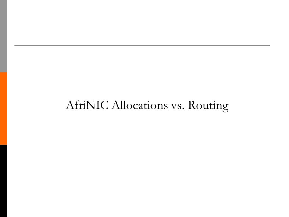 AfriNIC Allocations vs. Routing