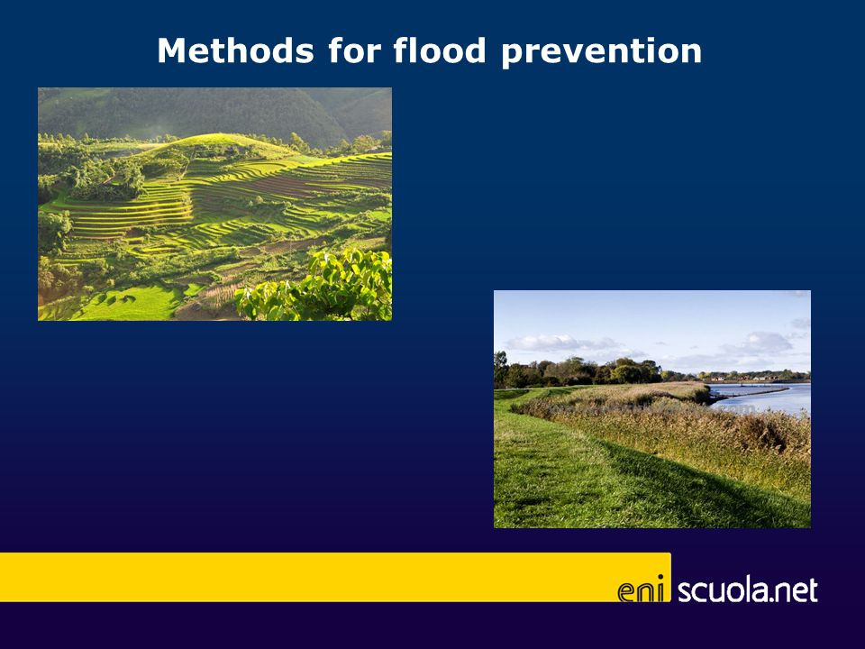 Methods for flood prevention
