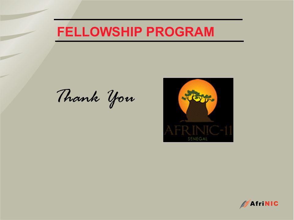 FELLOWSHIP PROGRAM Thank You