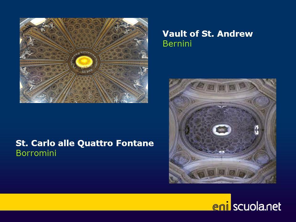 Vault of St. Andrew Bernini St. Carlo alle Quattro Fontane Borromini
