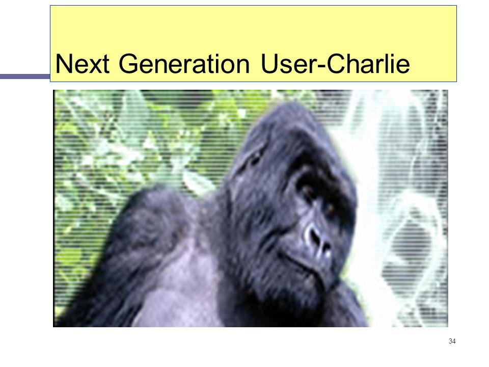 34 Next Generation User-Charlie