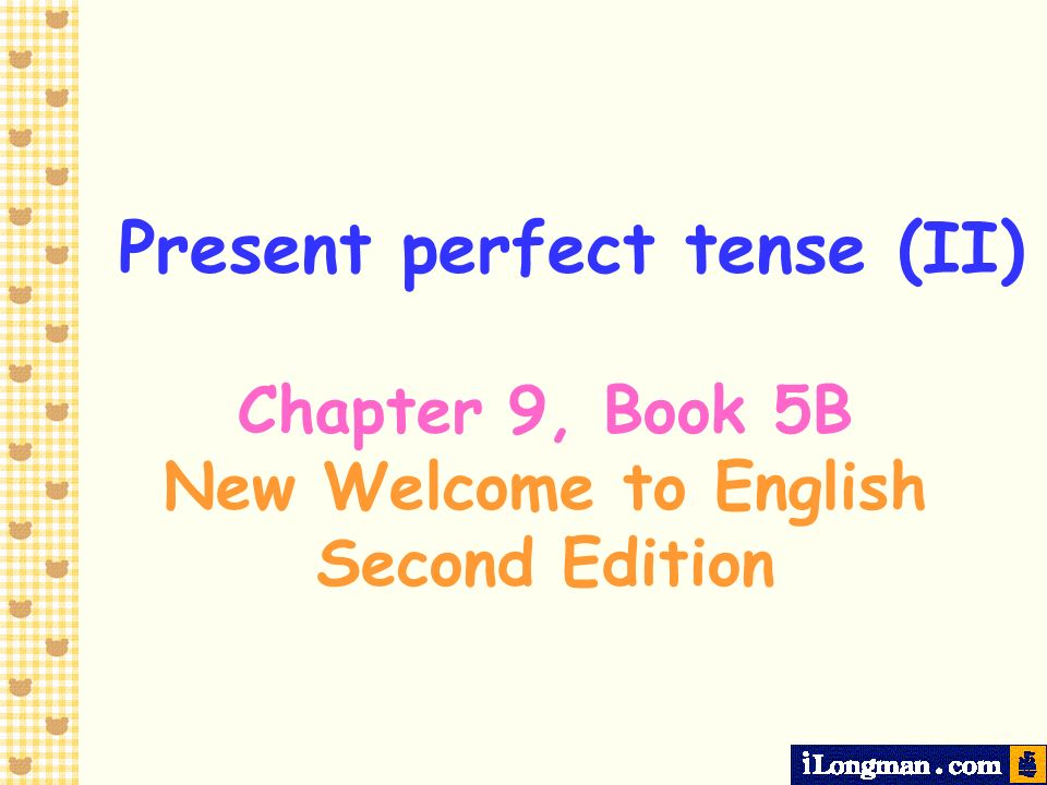 Present perfect tense Since We use since with the present perfect tense to refer to the starting point of an action.