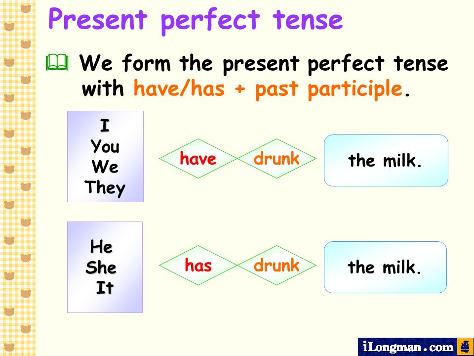 For Present perfect tense We use for with the present perfect tense to refer to a period of time.