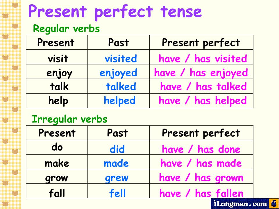 Present perfect tense We use the present perfect tense to talk about completed actions.