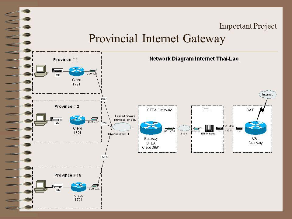 Important Project Provincial Internet Gateway
