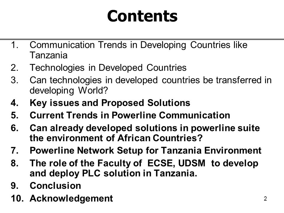 1 2th International Workshop on Open Access 2004 Kista, Sweden, 11 th May – 12nd May 2004 Powerline Network: Can Provide a Break through for Accessibility of Information and Communications Technologies (ICT) in African Countries A Presentation by Mr.