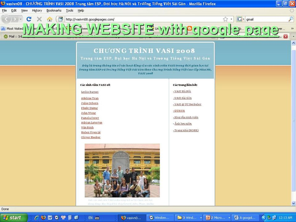 MAKING WEBSITE with google page MAKING WEBSITE with google page