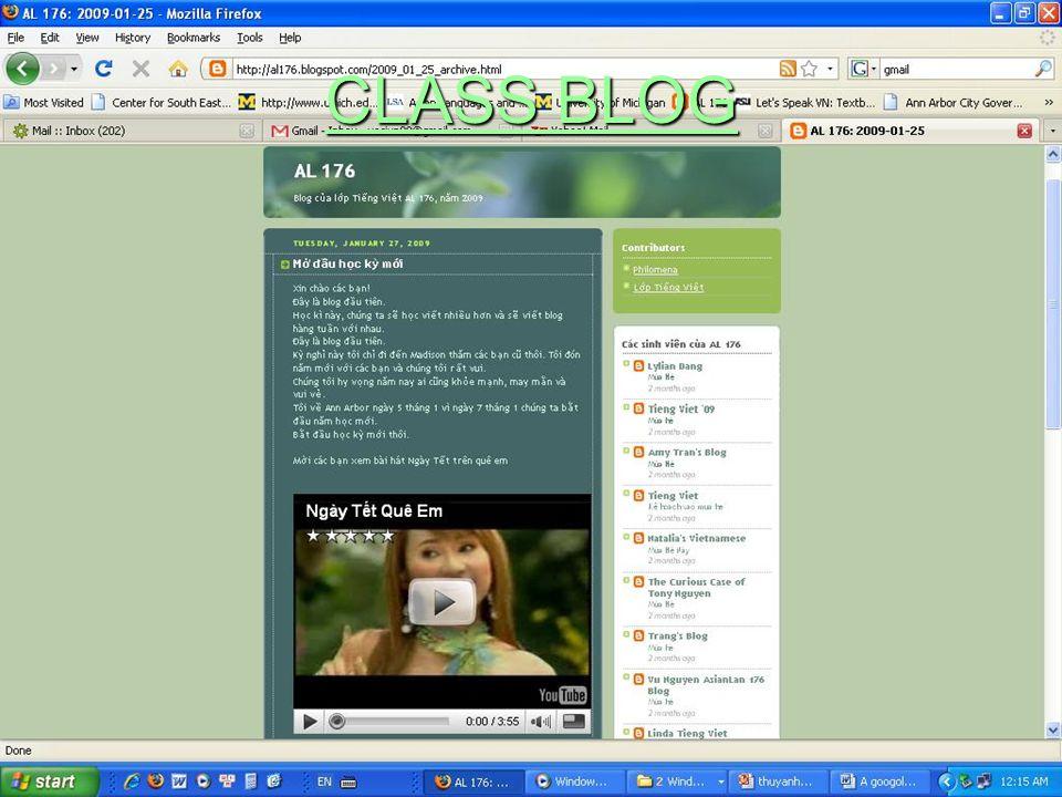 CLASS BLOG CLASS BLOG