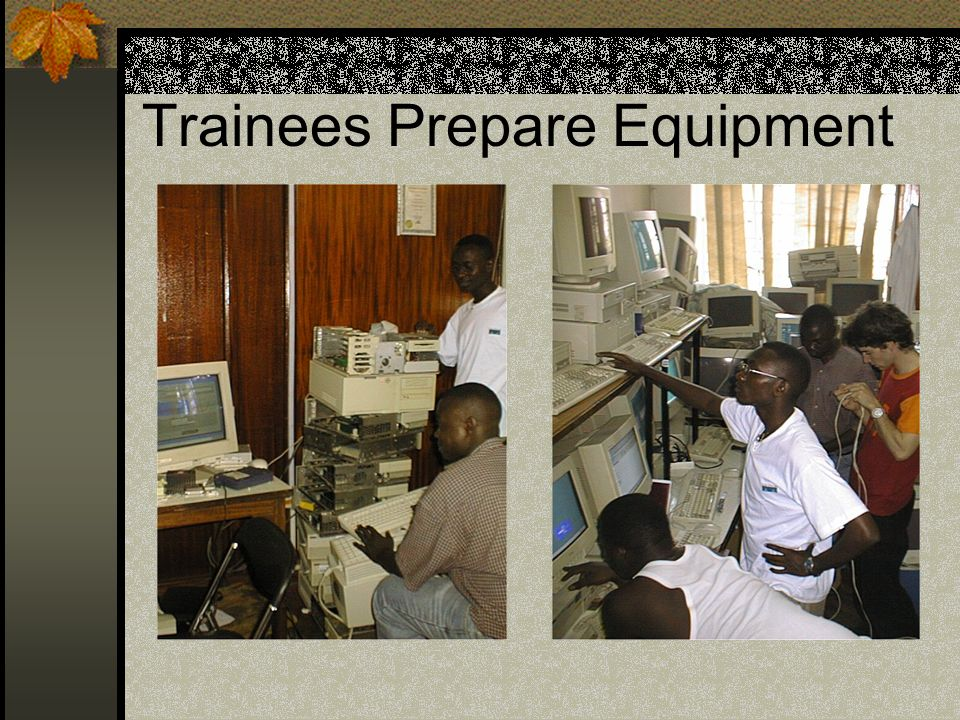 Trainees Prepare Equipment