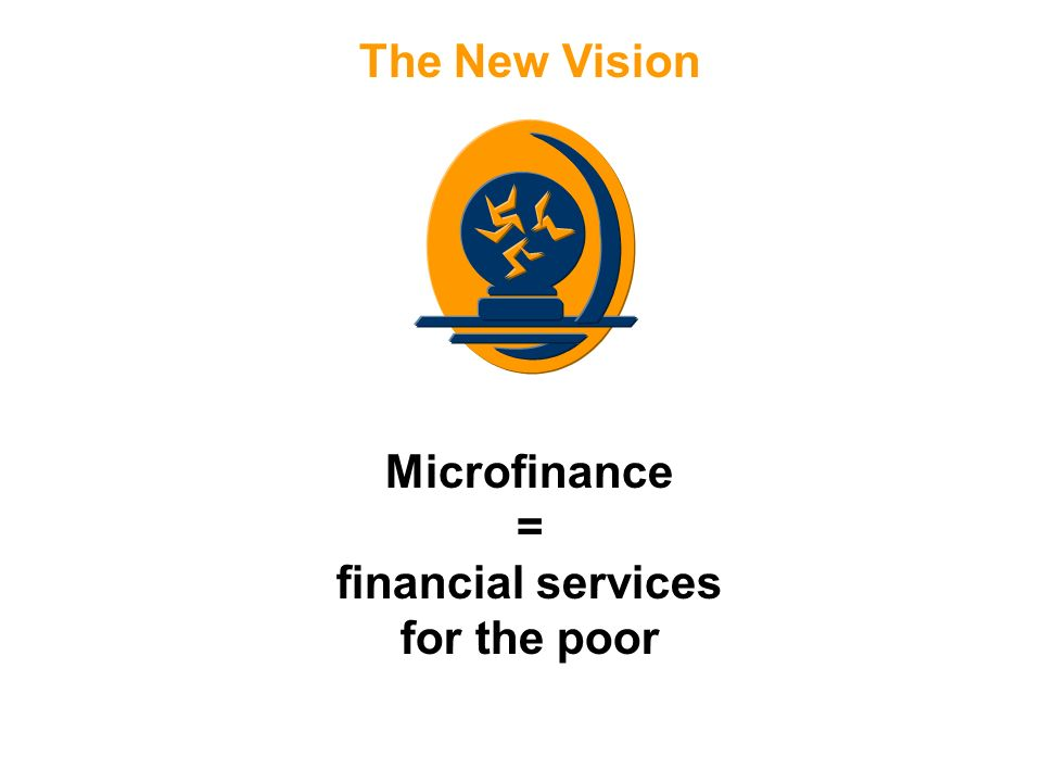The New Vision Microfinance = financial services for the poor