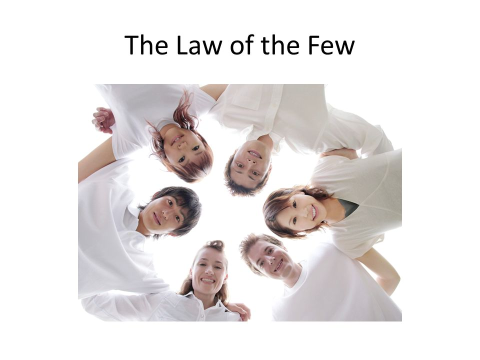 The 80/20 Principle – states that in any situation roughly 80% of the work will be done by 20% of the participants Law of the Few Theory – where a tiny percentage of people do the majority of work