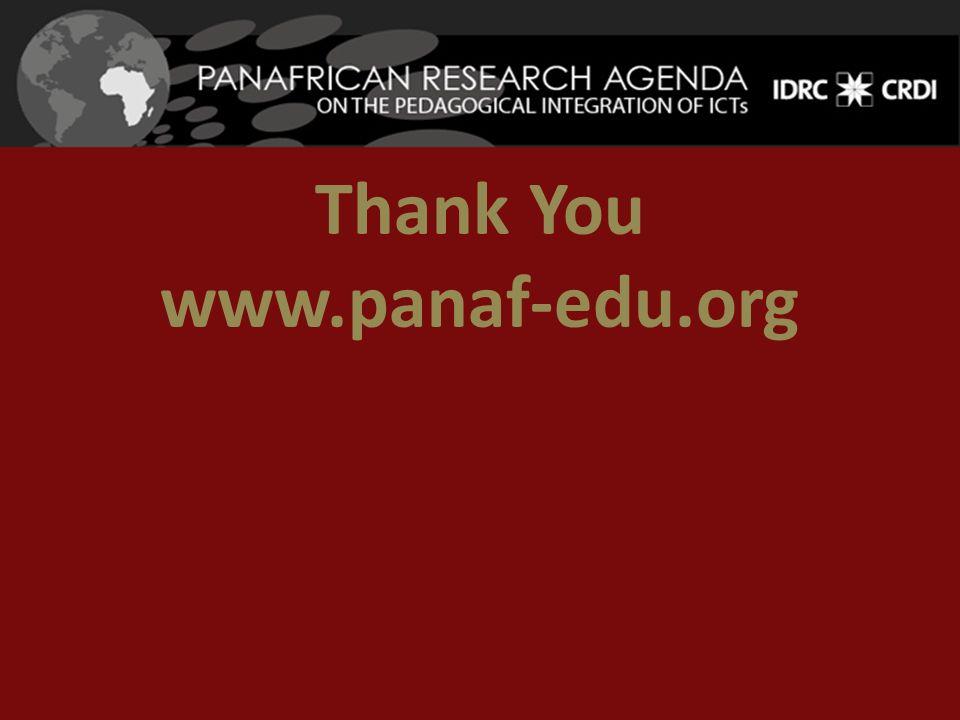 Thank You www.panaf-edu.org