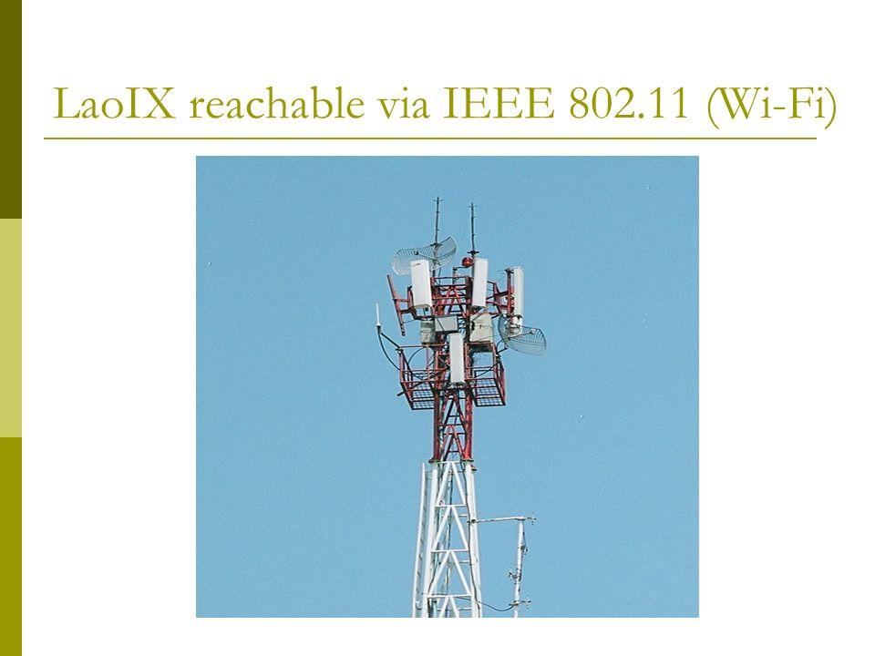 LaoIX reachable via IEEE 802.11 (Wi-Fi)