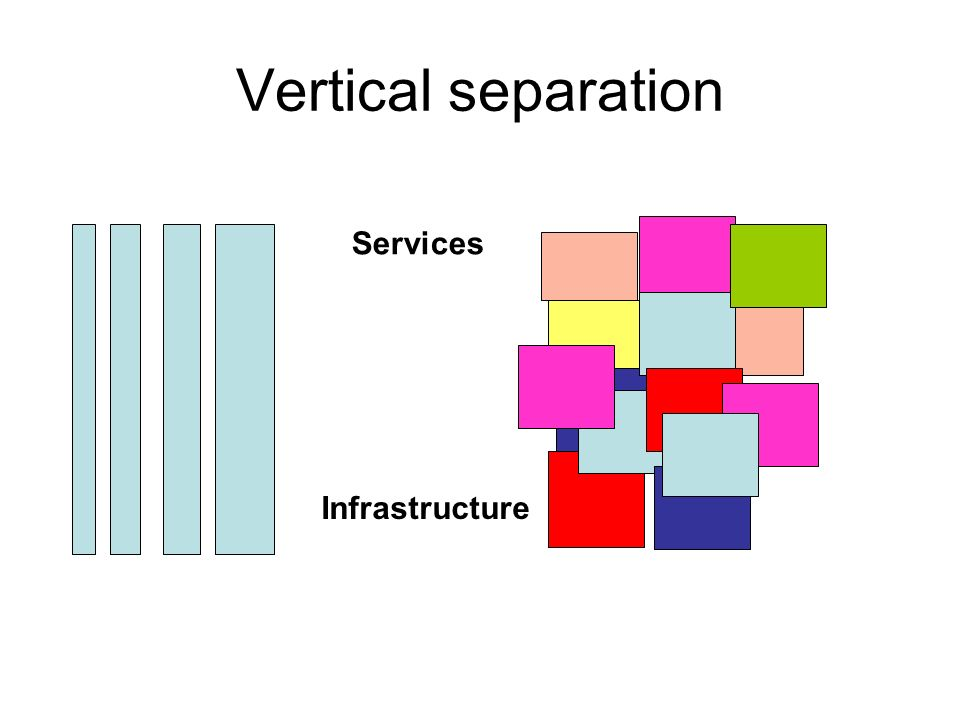 Vertical separation Services Infrastructure