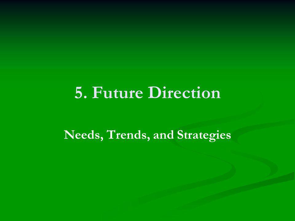 5. Future Direction Needs, Trends, and Strategies