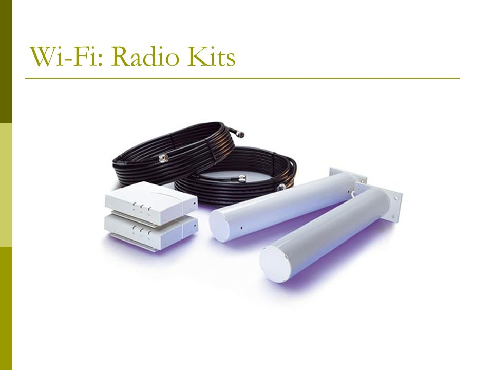 Wi-Fi: Radio Equipment