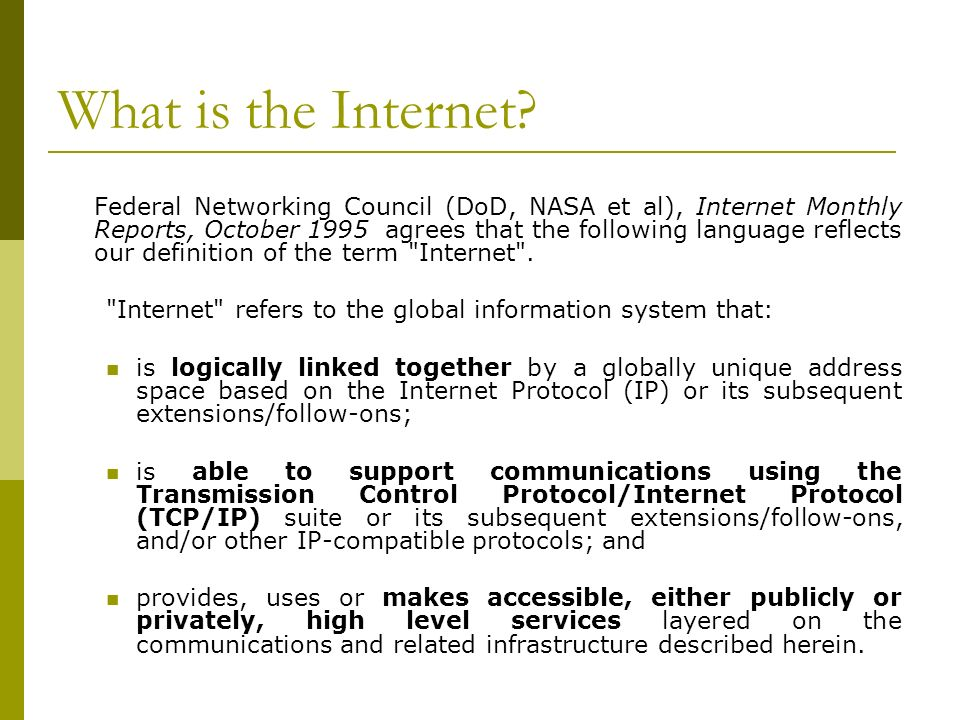 Link level technologies… or how to get connected to the Internet Goal: Brief technical overview of some of the most common technologies to connect to Internet in developing countries… How: What is the Internet.