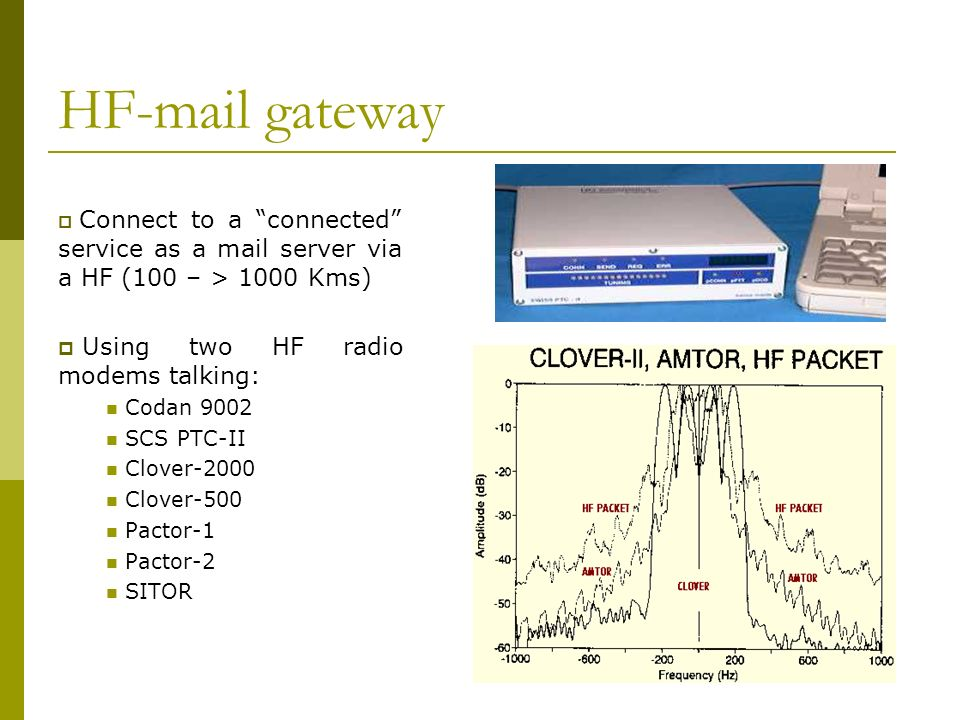 HF mail gateway