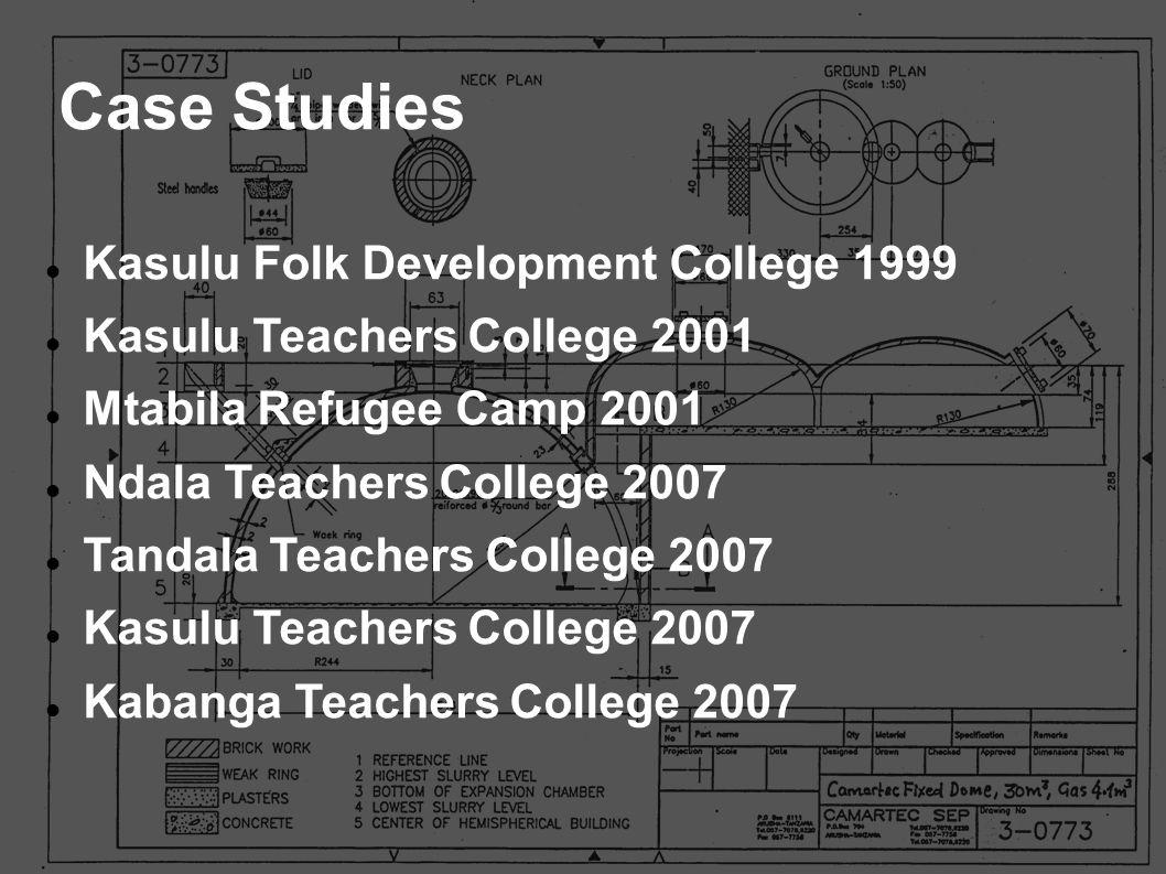 Kasulu Folk Development College 1999 Kasulu Teachers College 2001 Mtabila Refugee Camp 2001 Ndala Teachers College 2007 Tandala Teachers College 2007
