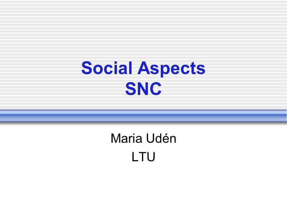Social Aspects SNC Maria Udén LTU