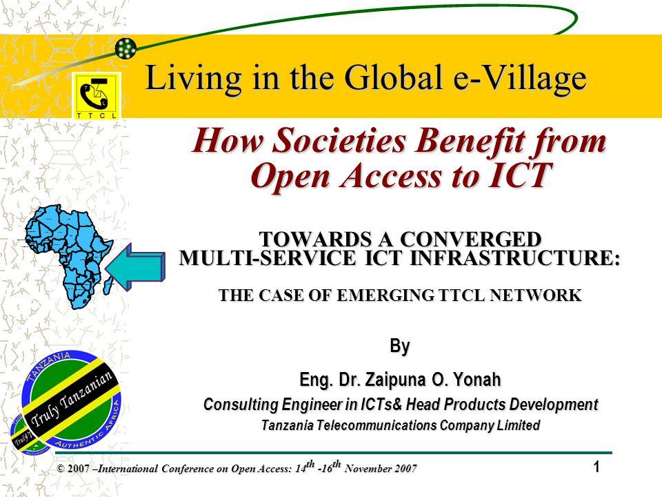 32 © 2007 – International Conference on Open Access: 14 th -16 th November 2007 Teledensity vs.