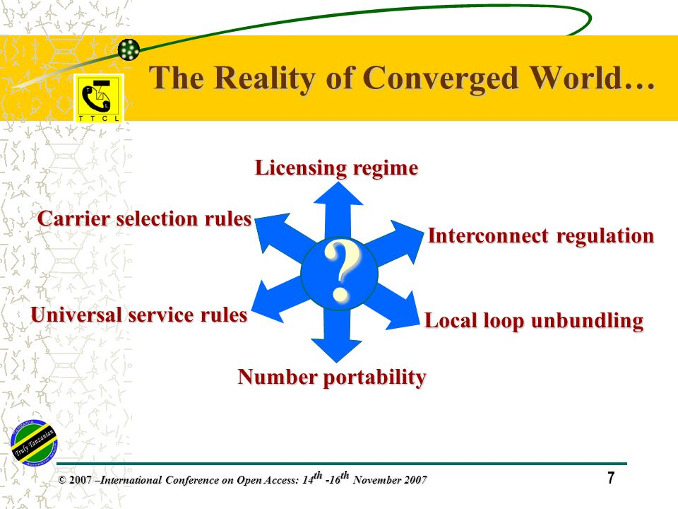 38 © 2007 – International Conference on Open Access: 14 th -16 th November 2007 In Conclusion…..