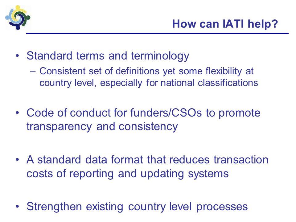 How can IATI help.