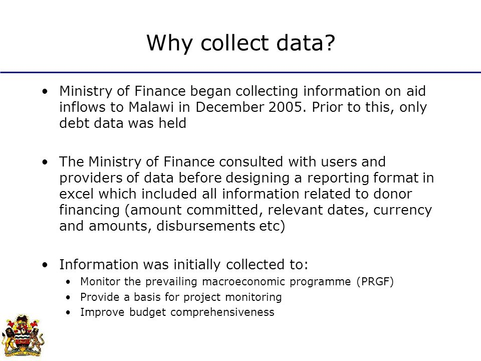 Why collect data.