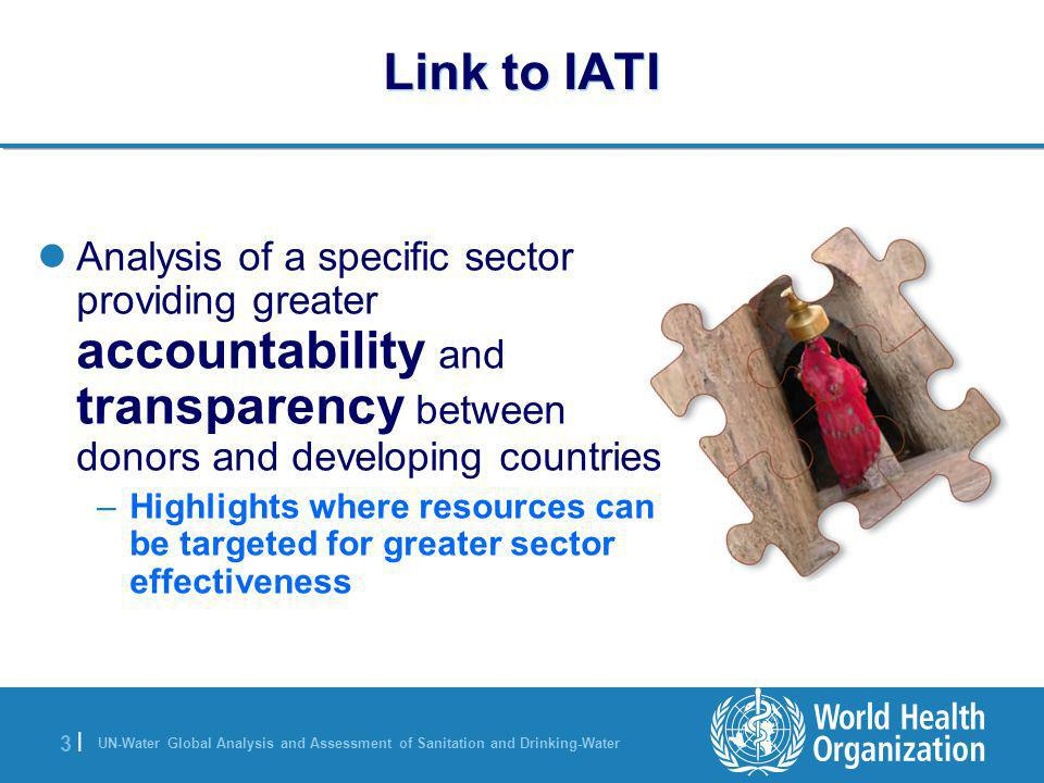 UN-Water Global Analysis and Assessment of Sanitation and Drinking-Water 3 |3 | Link to IATI Analysis of a specific sector providing greater accountab