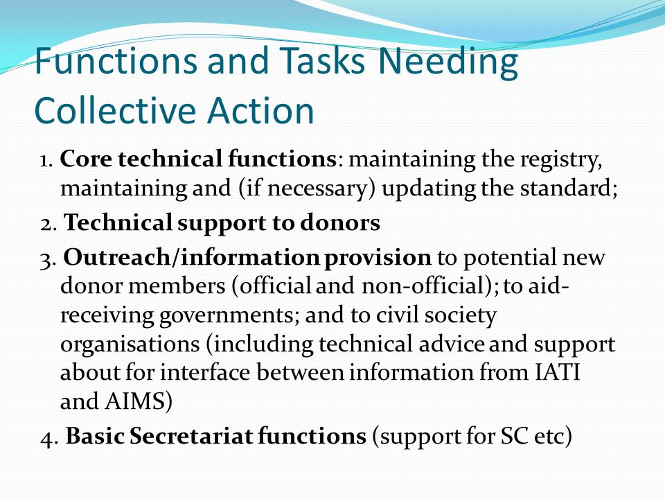 Guiding Principles for decisions about IATIs Future Institutional Home 1.