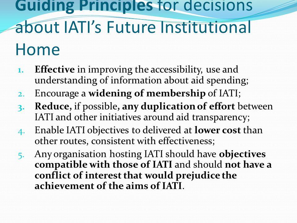 Governance: two Principles 1.