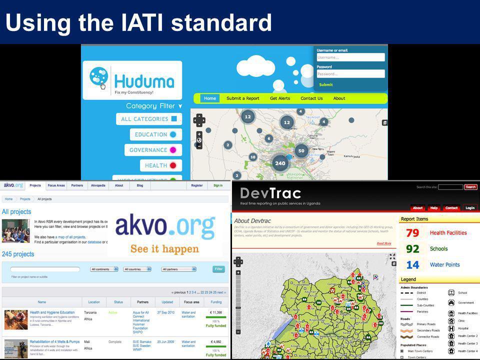 Using the IATI standard